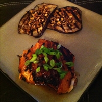 Indonesian-Style Grilled Eggplant with Spicy Peanut Sauce W