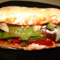 Italian Sausage Sub Sandwich