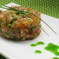 jade buddha salmon tartare