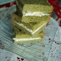 Japanese green tea loaf/ Three-cheese sandwich