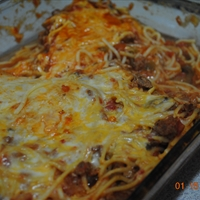 Jodie's light baked spaghetti
