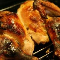 Juicy butterflied roast chicken