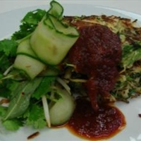 Kaffir Lime, Spring Onion & Coriander Sand Crab Fritters with Chilli Jam