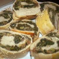 Kale and Mozzarella Stuffed Bread