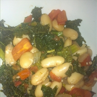 Kale with cannellini beans