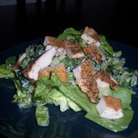 Katie's Cajun Chicken On A Cool Salad