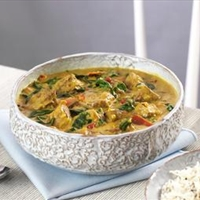 Lamb curry with basmati rice