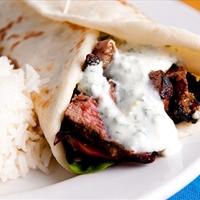 Lamb: Lebanese lamb wraps