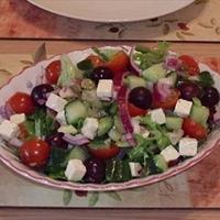 Layered Greek Salad