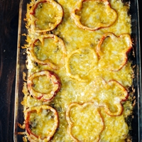 Layered Pepper Ring Casserole