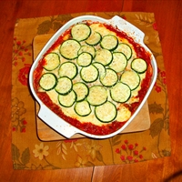 Layered Zucchini Ground Beef Casserole