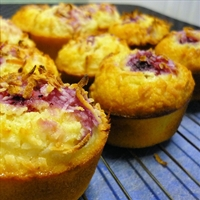 Lemon, Coconut and Raspberry Friands