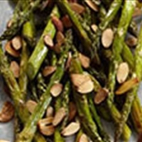 Lemon Roasted Asparagus w/ Almonds