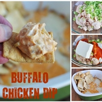 LIGHT Cheesy Buffalo Chicken Dip Recipe