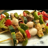 Lime Marinated Veggie Skewers