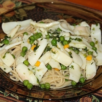 Linguini with Calamari Sauce (Pressure Cooker Recipe)