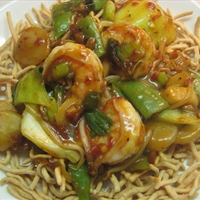 Lo Mein Noodles with Shrimp