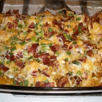 Loaded Potato and Chicken Casserole