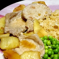 Loin Pork Chops with Apples