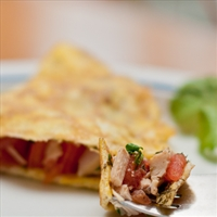 Low Carb Turkey and Tomato Omelet