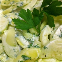 Low fat creamy cucumber salad