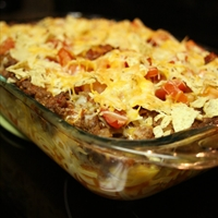 Mac & Cheese Taco Casserole
