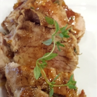 Maple peach glazed pork tenderloin