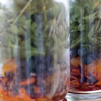 Mason Jar Salad with Blueberries and Rosemary Vinaigrette
