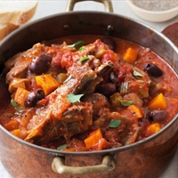 Meals in Heels - Rosemary and olive lamb stew