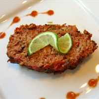 Mexican Meatloaf with Lime and Chipotle Tabasco Sauce