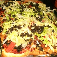 Mexican Pizza with Salsa