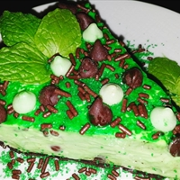 Mike's Baileys and Creme de Menthe Cheesecake