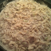 Mimi's Ground Beef Stroganoff
