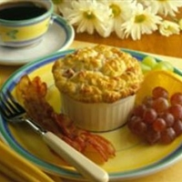 Mini Ham and Mushroom Souffles