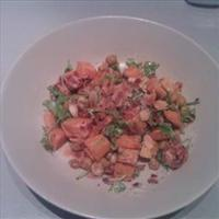 Moroccan chick pea & sweet potato salad