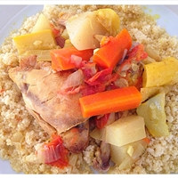 Moroccan Chicken and Summer Squash Cous Cous