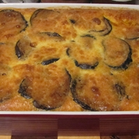 Moussaka (Baked Eggplant with Potatoes)