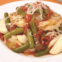 Mozzarella Chicken and Italian Vegetables