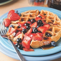 Multigrain Blueberry Waffles