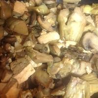 Mushroom and Artichoke Saute