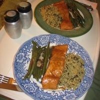 Mustard/molasses Glazed Salmon