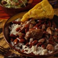 New Orleans-Style Red Beans and Rice with Fresh Ham Hocks
