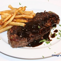 New York Steak au Poivre with Balsamic Vinegar