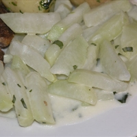 North Croatian kohlrabi stew