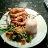 Nutty Chicken Skewers with Honey and Soy Sauce Dip