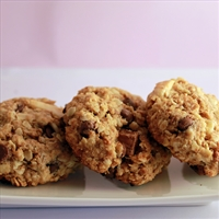 Oatmeal Bran Chocolate Chip Cookies