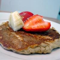 Oatmeal Pancakes & Roasted Strawberries