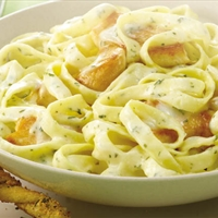 Old Bay Shrimp Fettucine Alfredo