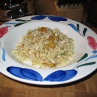 Orzo and Golden raison side