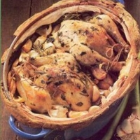 Oven-roasted Chicken With Forty Garlic Cloves